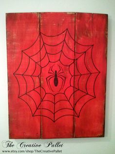 Vintage Spiderman Wood Pallet Sign by TheCreativePallet on Etsy, $45.00