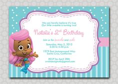 Bubble Guppies Mermaids Fish Birthday (molly) by SwishPrintables on Etsy, $15.00