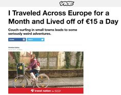 I #backpacked across #Europe for a month and lived off of €15 a day! #travel #travelblogger #travelwriting #travelskils #traveltips #backpacking #writersofinstagram