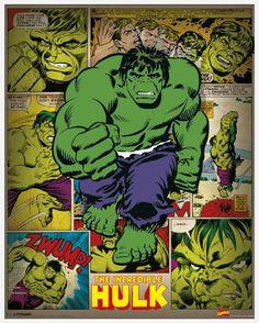 #Hulk #Fan #Art. (Incredible Hulk - Retro Art Print) By: Marvel Comics at King & McGaw. (THE * 5 * STÅR * ÅWARD * OF: * AW YEAH, IT'S MAJOR ÅWESOMENESS!!!™)[THANK Ü 4 PINNING<·><]<©>ÅÅÅ+(OB4E)