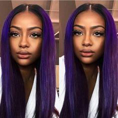 follow @badgalronnie Vibrant Hair Colors, Hair Color Purple, Cool Hair Color, Colorful Hair, Weave Hairstyles, Cool Hairstyles, Long Hair Cut Short, Curly Hair Styles, Natural Hair Styles