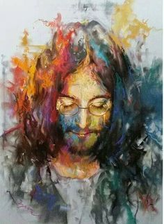 John Lennon my opinion : Best painting of the fabulous JL. Anyone know what style of painting this is ? Bird Song sez it's Expressionism.