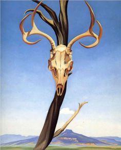 Deers Skull with Pedernal - Georgia O'Keeffe