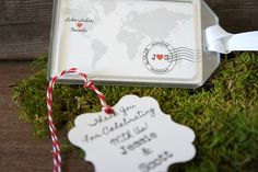 wedding luggage tag Save the Date's for destination weddings