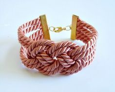 DIY Knotted Cord Bracelet - http://www.homesteadingfreedom.com/diy-knotted-cord-bracelet/