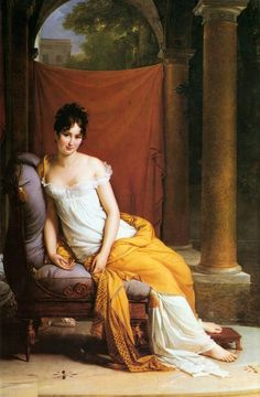 Madame Recamier by Francois Gerard. ~a celebrated French Beauty, considered the most beautiful and graceful woman of her day. Brilliant conversationalist  and charming she made her home a haven for men of education and genius.