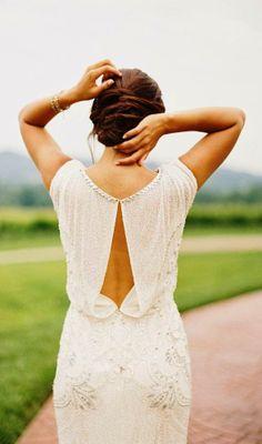 Gorgeous sleeveless open back bridal dress fashion | HIGH RISE FASHION
