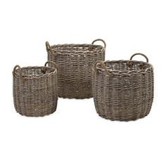 IMAX 86515-3 Mellie Willow Baskets - Set of 3