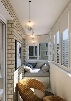 Интерьер маленького балкона: 135 красивых фото