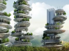 Vincent Callebaut Unveils Stacked Pebble-Inspired Eco-Farmscrapers for Shenzhen Asian Cairns Farmscrapers-Vincent Callebaut – Inhabitat - Sustainable Design Innovation, Eco Architecture, Green Building French Architecture, Futuristic Architecture, Sustainable Architecture, Amazing Architecture, Architecture Design, Sustainable Design, Dezeen Architecture, China Architecture, Conceptual Architecture