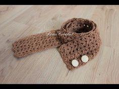 Easy crochet scarf l V- stitch l. This pattern is very easy, perfect for beginners. Crochet Scarf Tutorial, Crochet Cardigan Pattern, Double Crochet, Easy Crochet, Free Crochet, V Stitch, Crochet World, Crochet Videos, Tejidos