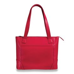 Levenger Fortunata Tote, Red (AL0870 RD). Can accommodate iPad, Kindle, Nook or other e-reader Zip closure. Interior zip pocket. Roomy interior can hold most 15-inch laptops and legal-size files. 2 slip pockets for smartphone and 3 x 5 cards. 2 outside stash pockets.