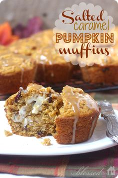 Salted Caramel Pumpkin Muffins -these look amazing!