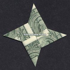 Dollar Origami Ninja Star