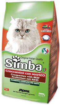 CROQUETTES WITH BEEF - Complete food for cats with vitamins A, D3-E that promote the health and well-being of the animal.