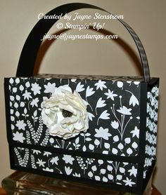 """Jayne's Accordion Purse made with """"Back to Black"""" DSP"""
