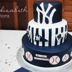 Wondrous 136 Best Yankees Cakes Images Yankee Cake Cake Cupcake Cakes Funny Birthday Cards Online Benoljebrpdamsfinfo