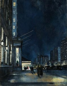 """huariqueje: """"The Plaza - Bernard Lamotte French, 1903-1983 Oil on canvas laid down on board,"""