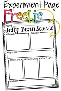 Preschool Benchmark 11.A.ECc Plan and carry out simple investigations Jelly Bean Simple Science Experiment to do with kids. Encourages observation skills.