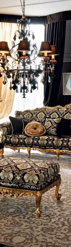 Regal #BlackandGold Furniture