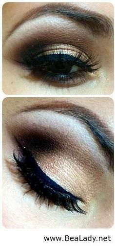 Stunning eye makeup for brown eyes