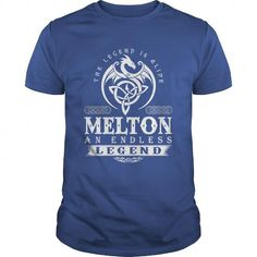 Awesome Tee The Legend Is Alive MELTON An Endless Legend T shirts