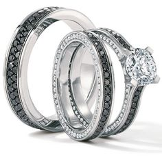 Platinum wedding ring set by Krieger