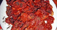 Recipe of Oven dried tomatoes with basil - Rosii uscate cu busuioc si sare de mare