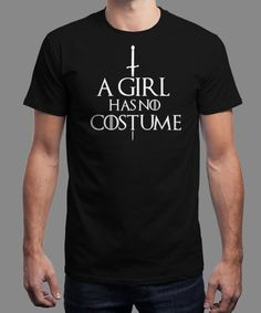 """A Girl Has No Costume"" is today's £8/€10/$12 tee for 24 hours only on www.Qwertee.com Pin this for a chance to win a FREE TEE this weekend. Follow us on pinterest.com/qwertee for a second! Thanks:)"