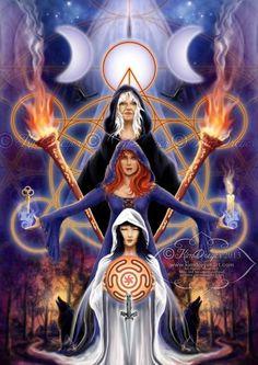 HECATE: DIOSA DE LA SABIDURÍA PSÍQUICA E INTUITIVA En la mitología griega era la diosa de las encrucijadas, que podía ver tres caminos a l...