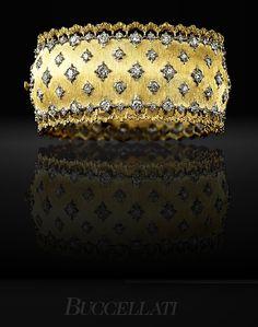 Buccellati Diamond and Gold Cuff