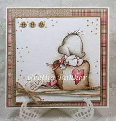LOTV - Baby Heart with On a High Note papers and Sentiment Tags by DT Gretha