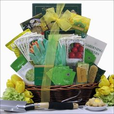 Gardener's Delight Gift Basket A unique gardener's gift basket for any occasion. Features a fantastic variety of gardening items like this 32-page Gardening Answers Book, gardening gloves, seed packet