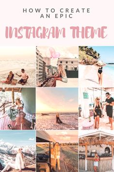 If you have ever wanted to create an epic and consistent instagram theme here are some tips to get you started in the right direction. Instagram Marketing Tips, Instagram Blog, Social Media Content, Social Media Tips, Social Media Marketing, Social Networks, Online Marketing, Instagram Theme Ideas Color Schemes, Instagram Themes Ideas