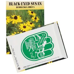 Save the Bees Combo Pack - Window Cling and Black-Eyed Susan Seed Pack