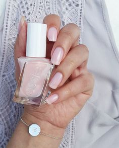 Close your eyes. Lose yourself in the wonder of this graceful sheer pink and discover your heart's desire with #sheerfantasy from the new essie #gelcouture 'atelier' collection.