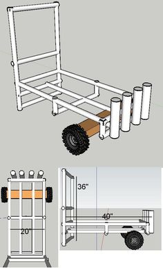 Rough Beach Cart Plans- Ben and Wynn are building one of these this weekend similar!