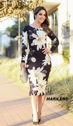 Modesty Fashion, Fashion Dresses, Dress Clothes For Women, Dresses For Work, Funky Fashion, Womens Fashion, Dress Skirt, Bodycon Dress, Short Dresses