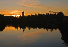 Sunset Riverfront Park Spokane, Washington