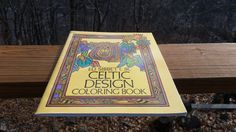 Vintage Celtic Design Coloring Book for Adults and Kids / 1979 Colouring Pages Activity DIY Craft Celtic Art Book