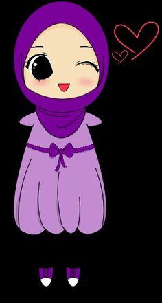 Purple hijab girl