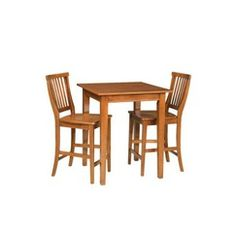 Bistro Arts and Crafts Square Table with 2 Stools Quick Information
