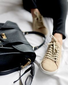 Tan Sneakers, How To Wear Sneakers, Real Style, Weekend Vibes, Crystal Ball, Crystals, Instagram Posts, Inspiration, Shoes