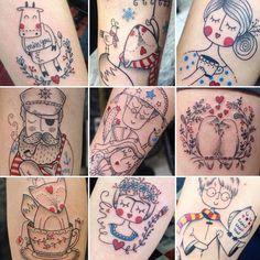 15 Tatuagens Do Estilo Fofurista De Dani Bianco