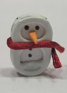 pop tab snowman-looks like I am gonna have to start saving pop tabs again! so Cute!