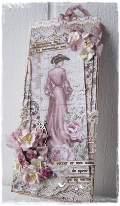 Card by LLC DT Member Elin Torbergsen, using papers and image from Maja Design's Vintage Autumn Basics collection.