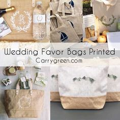 Wedding Welcome Bags, Wedding Favor Bags, Jute Shopping Bags, Jute Tote Bags, Promotional Bags, Wholesale Bags, Printed Bags, Monogram Gifts, Gift Ideas