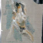 Jalousie  Acryl auf Wellpappe                 1994 Paper, Easel, Art, Painting Art
