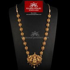 Buy Necklaces Online | Deep Nakashi Lakshmi with Dancing Peacocks from Kameswari Jewellers