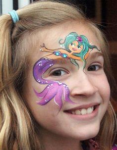 mermaid pudong face painting